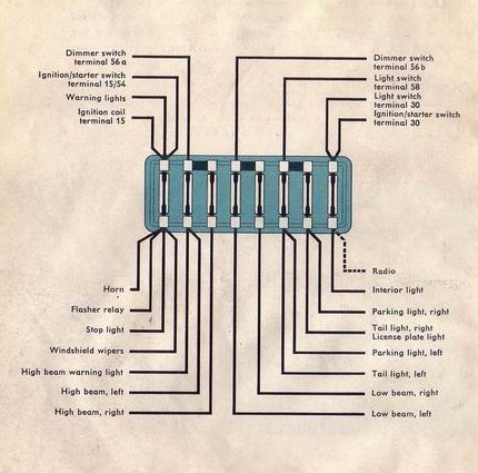 N Model as well Bus Usa moreover  in addition Bugfuses further Bugfuses. on 1967 volkswagen wiring diagram