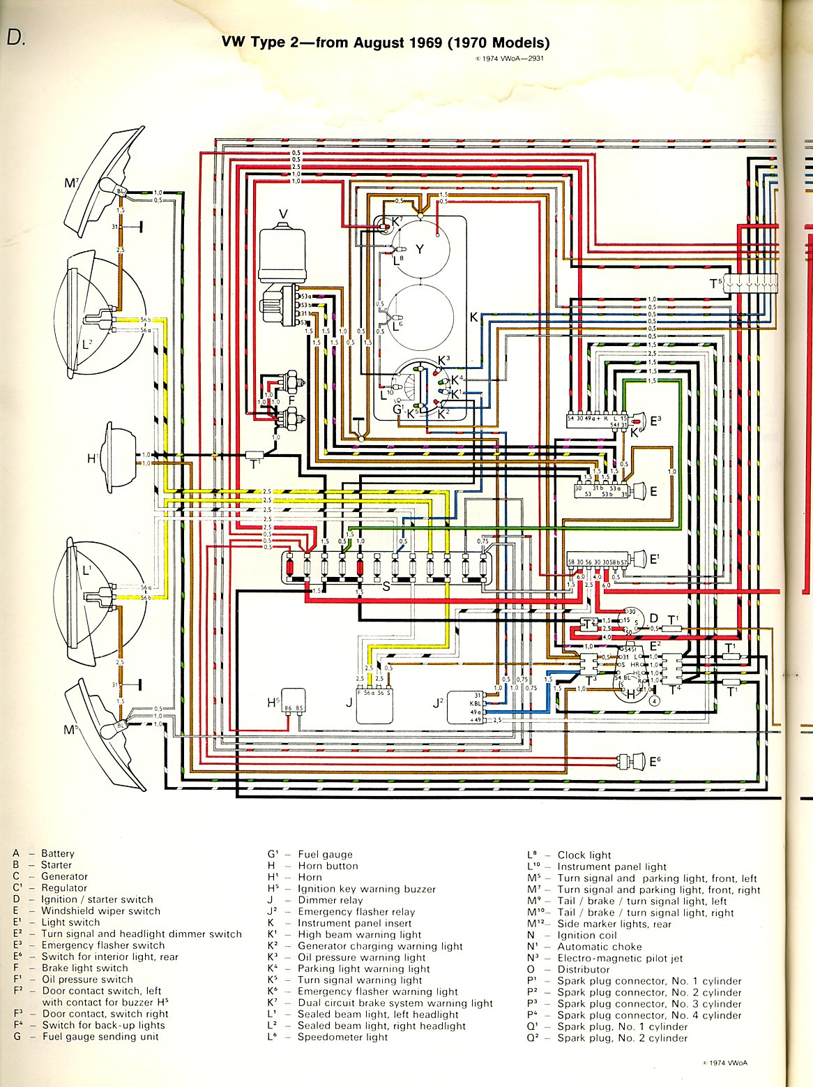 1971 vw bus engine diagram 1970 bus wiring diagram | thegoldenbug.com