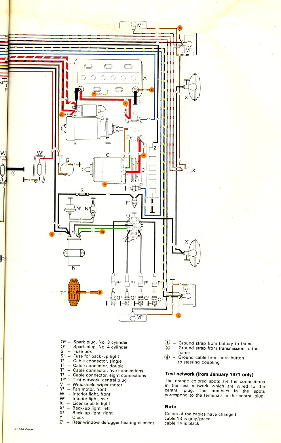 baybus_71b 1971 bus wiring diagram thegoldenbug com Volkswagen Type 2 Wiring Harness at gsmx.co