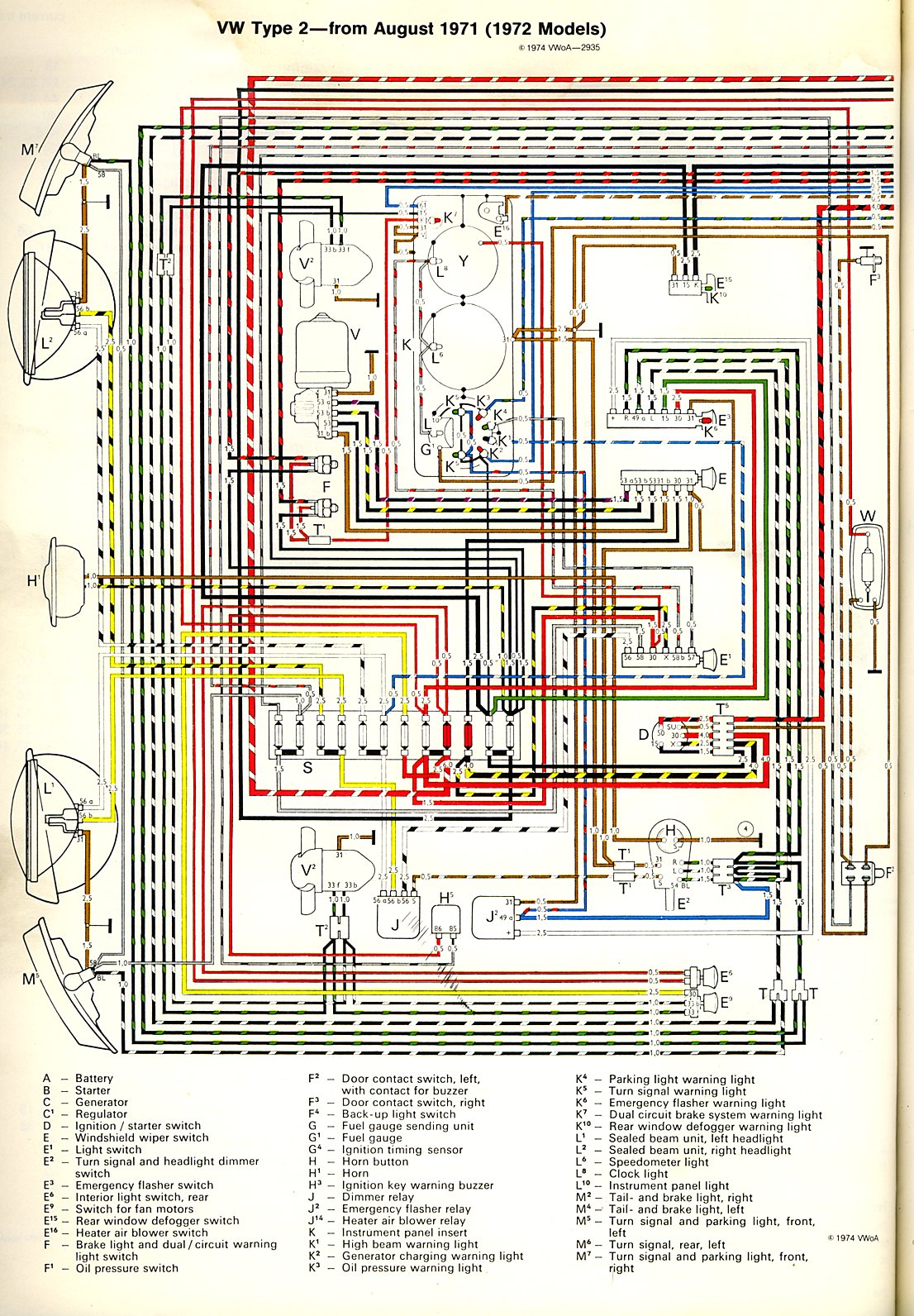 1972 Bus    Wiring       diagram      TheGoldenBug