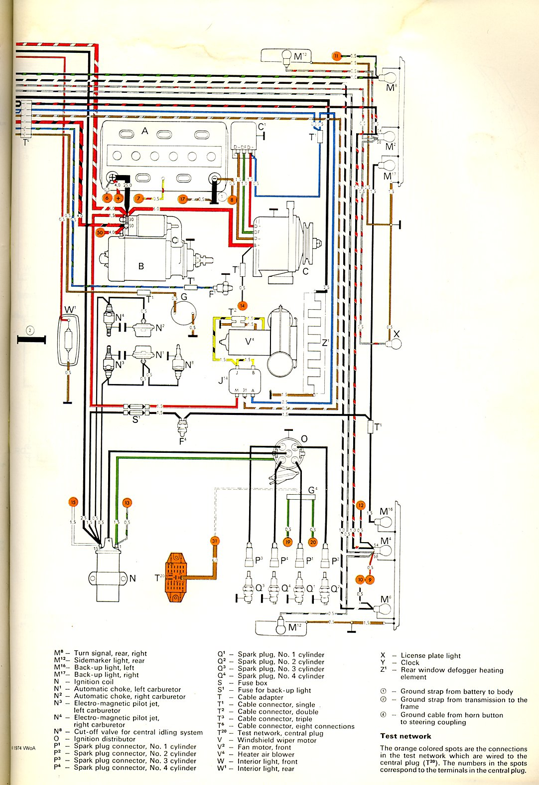Spark Plug Wiring Diagram Vw Bus Car Diagrams Explained 72 Volkswagen Harness 1972 Thegoldenbug Com Rh 1973 Engine