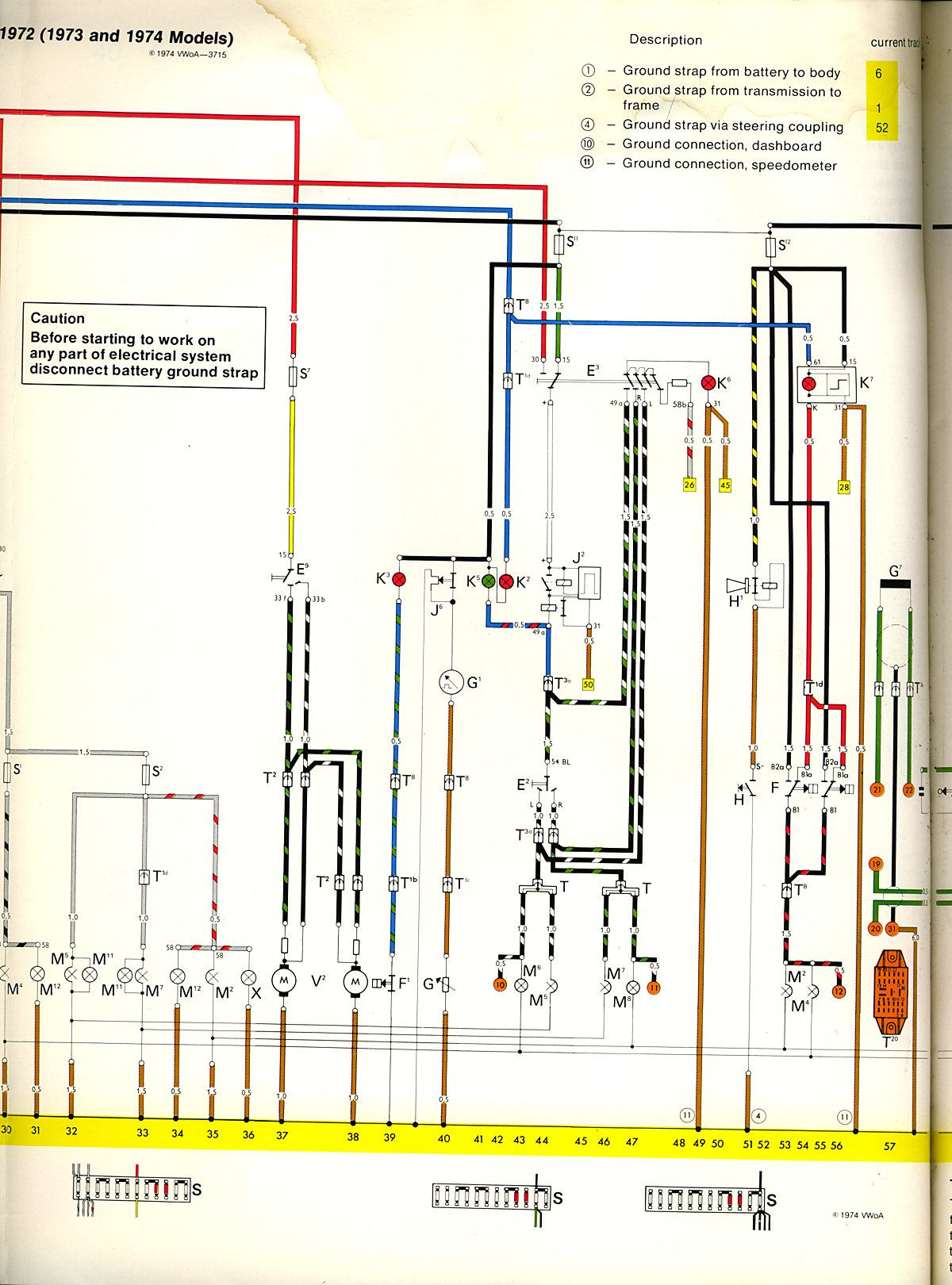 74 bug wiring schematics 74 vw wiring diagram 1973-74 bus wiring diagram | thegoldenbug.com