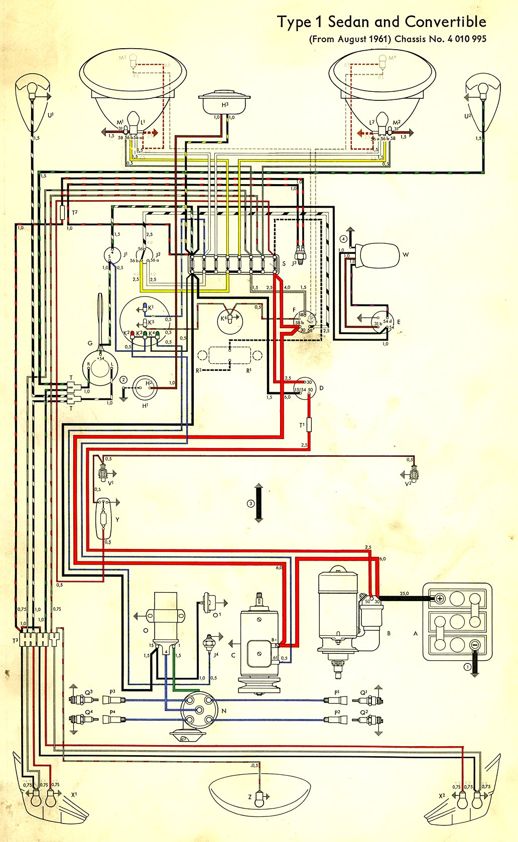 1962 Beetle Wiring Diagram