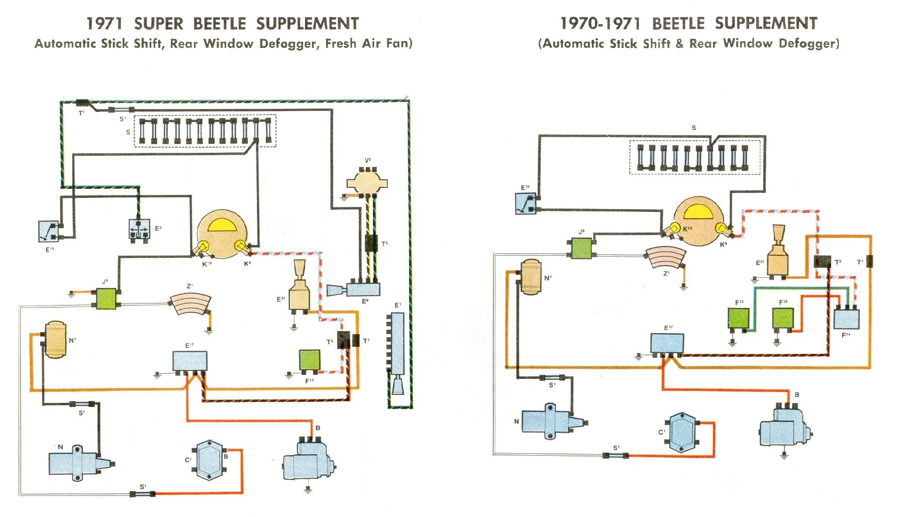 bug_7071_supplement 1969 71 beetle wiring diagram thegoldenbug com 1974 super beetle fuse diagram at crackthecode.co
