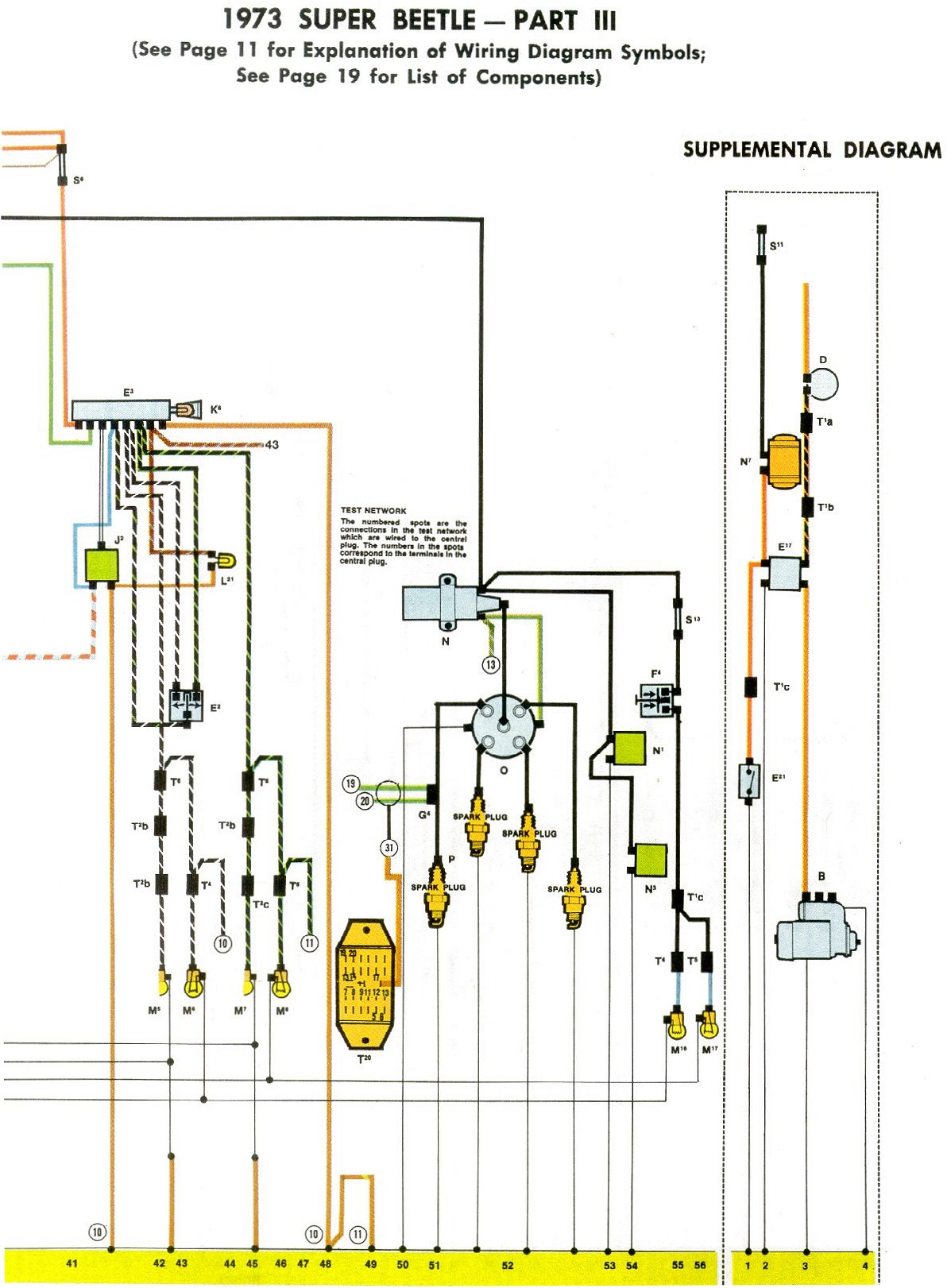wiring diagram beetle 1973 1973 super beetle wiring diagram | thegoldenbug.com starter wiring diagram beetle 1973