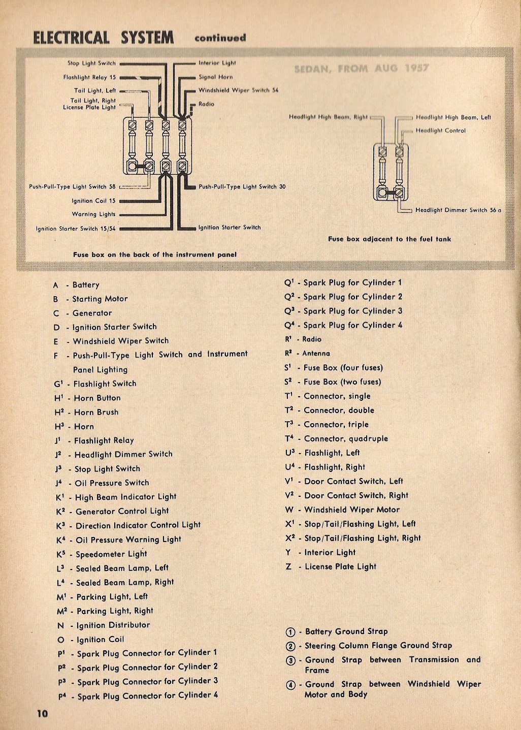 1957 beetle wiring diagram thegoldenbug com VW Alternator Wiring Diagram