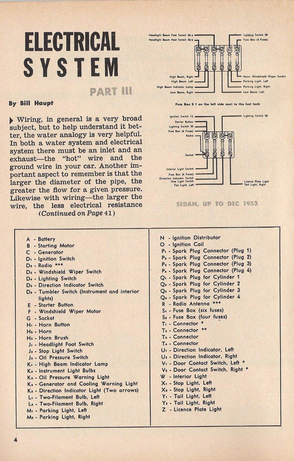 1952-53 Beetle Wiring Diagram | TheGoldenBug.com