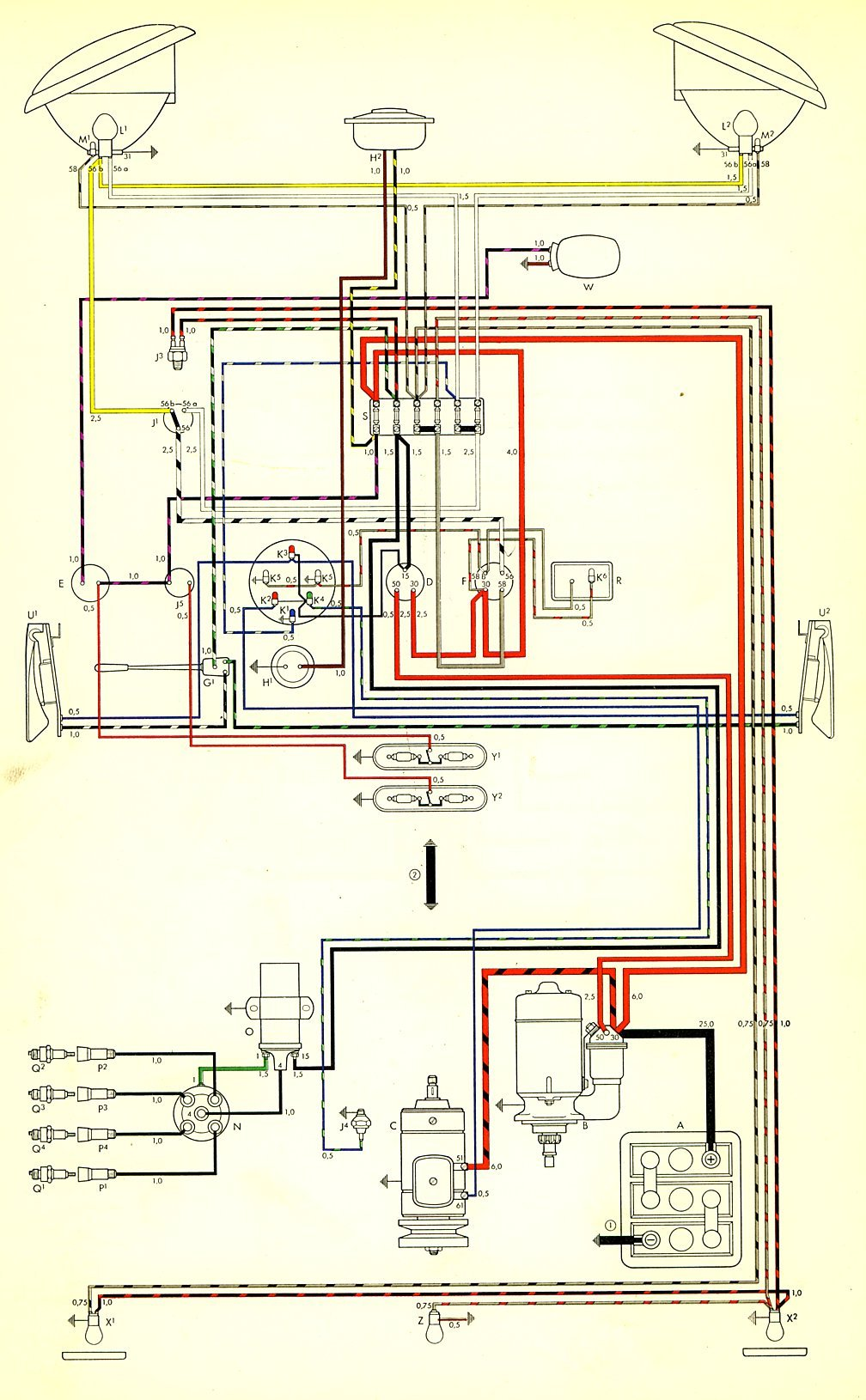 Bus on 1965 vw wiring diagram