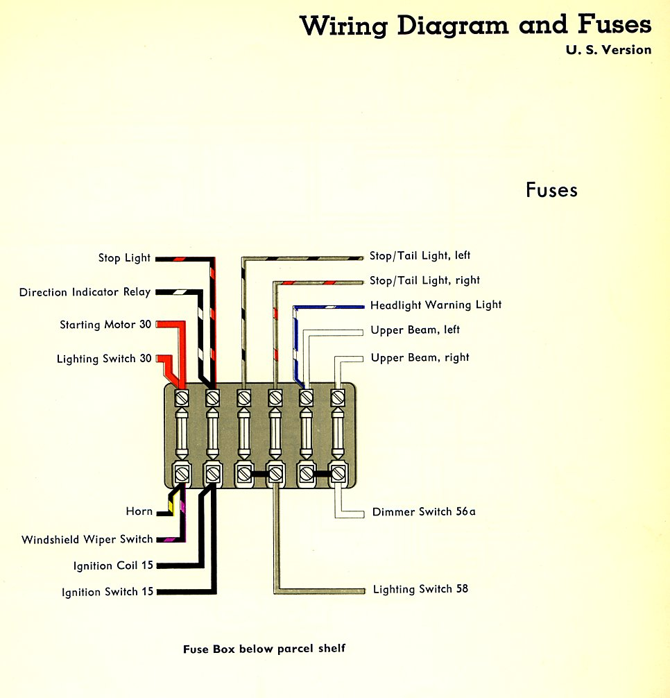 1959 Bus Wiring    Diagram     USA    TheGoldenBug
