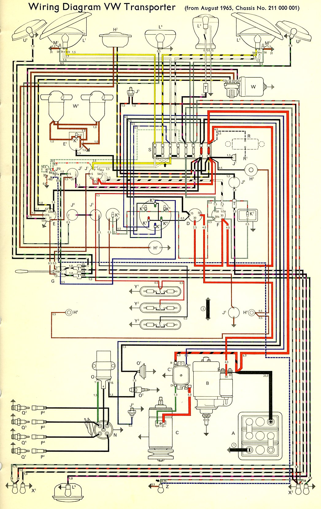 1966    Bus       Wiring       diagram      TheGoldenBug